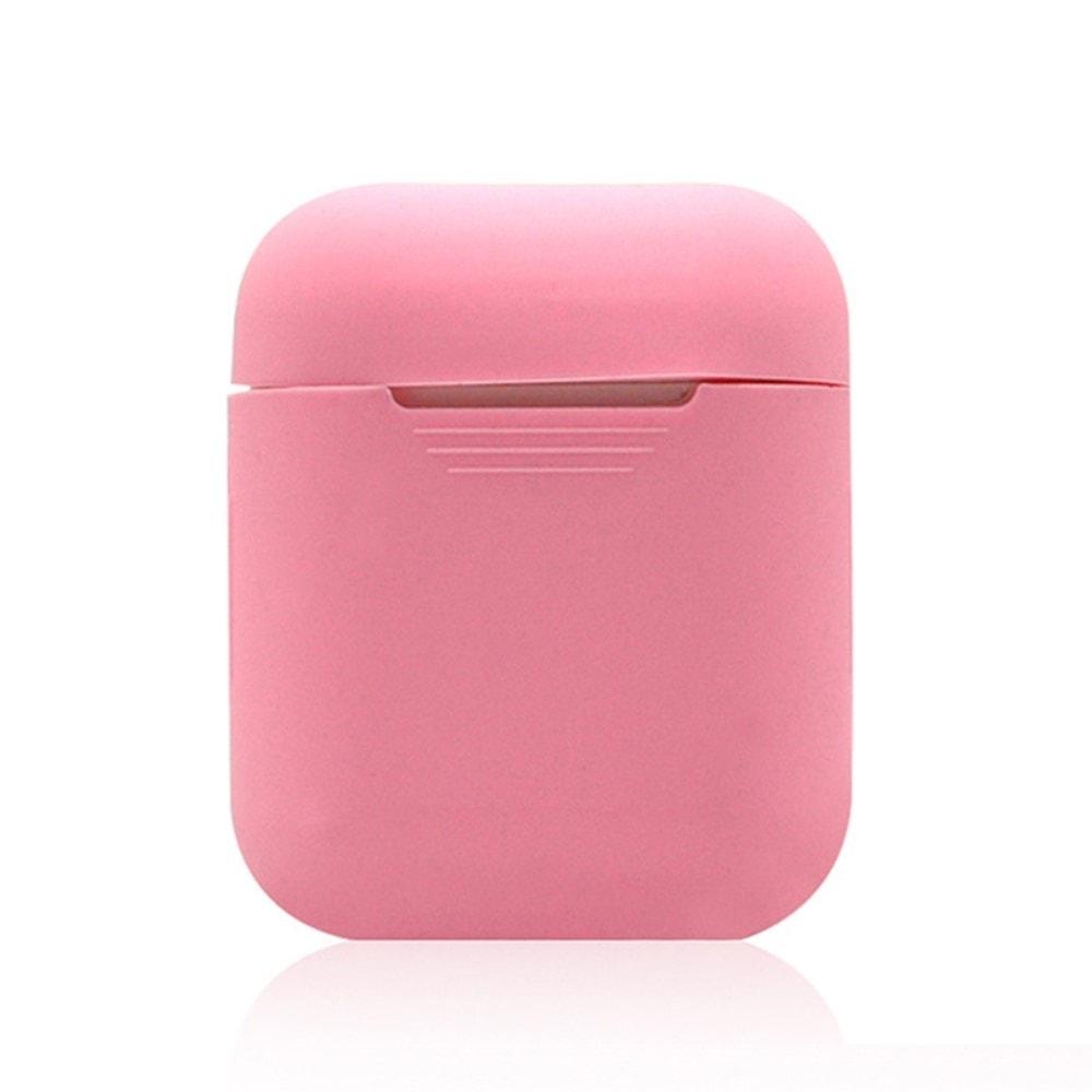 Apple Airpods ochranný kryt silikonový obal na bezdrátová sluchátka jemně růžový