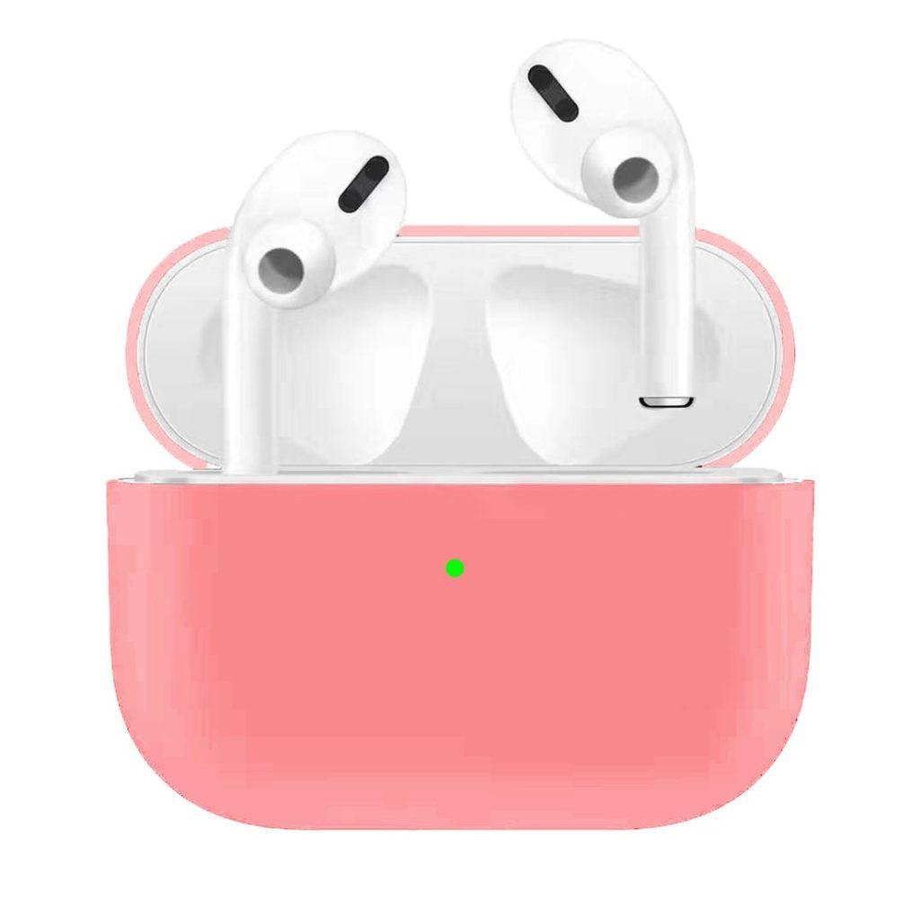 Apple Airpods Pro ochranný kryt silikonový obal na bezdrátová sluchátka růžový