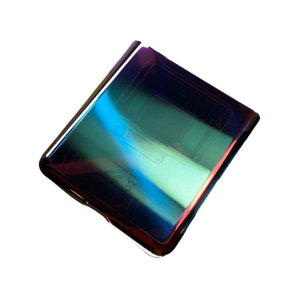 Samsung Galaxy Z Flip kryt baterie Spodní fialový F707N (Service Pack)