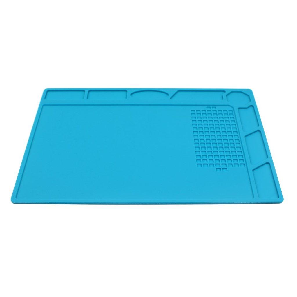 Silikonová antitepelná podložka na servisní stůl modrá 32x22,8 cm