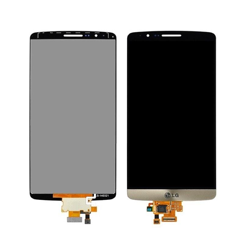 LG G3 LCD displej zlatý + dotykové sklo komplet D855 D850