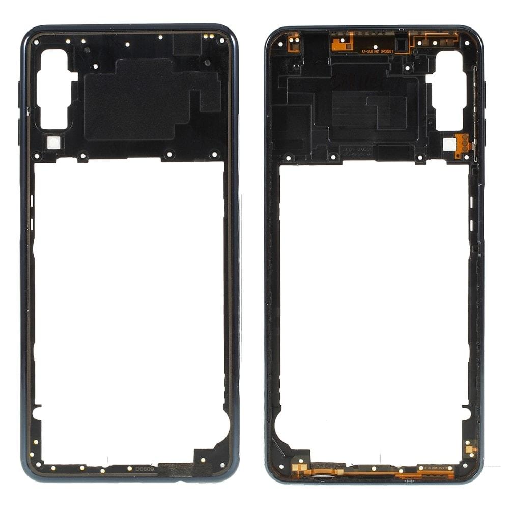 Samsung Galaxy A7 2018 středový rámeček střední kryt A750 černý