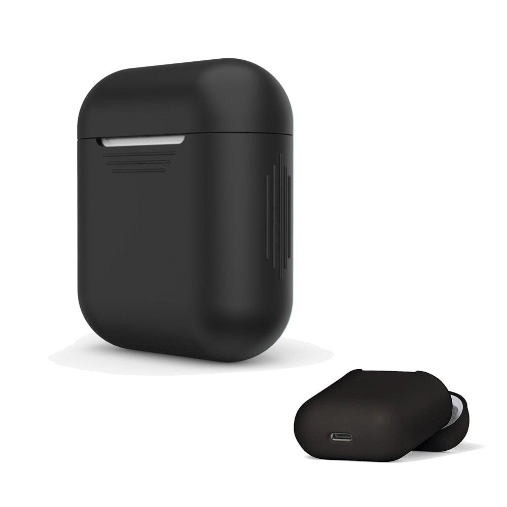 Apple Airpods ochranný kryt silikonový obal na bezdrátová sluchátka černý
