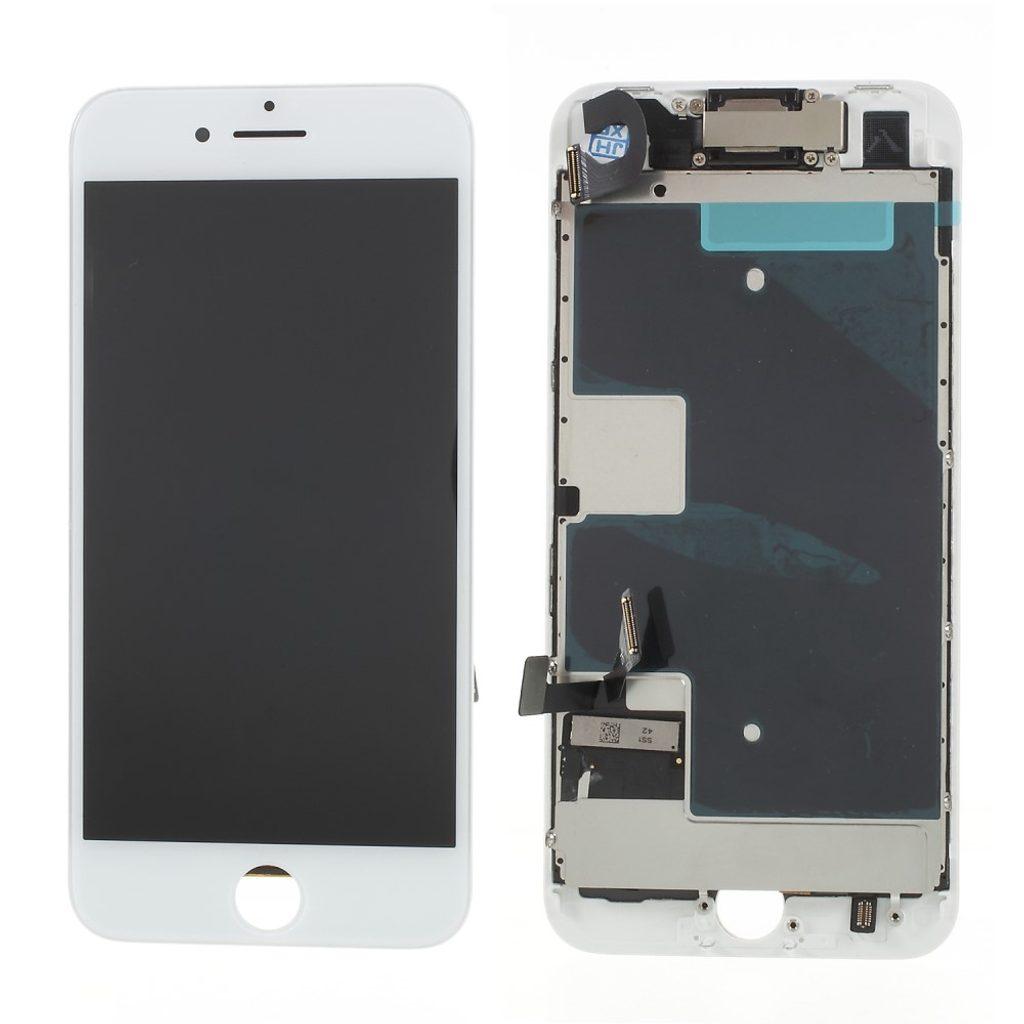 Apple iPhone 8 / SE (2020) LCD displej dotykové sklo bílé komplet osazený včetně přední kamery