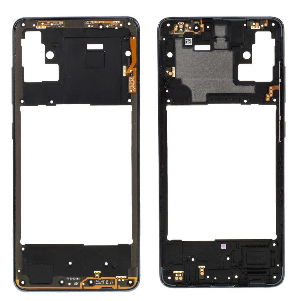 Samsung Galaxy A51 střední rámeček středový kryt černý A515