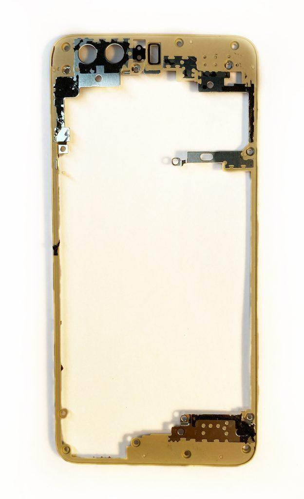 Honor 8 krytka základní desky plastový rámeček použitý pod zadním krytem zlatý