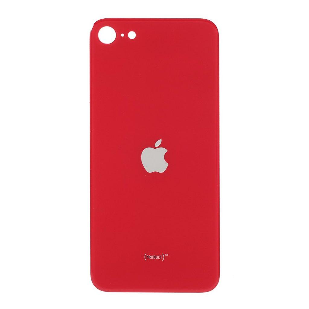 Apple iPhone SE 2. generace zadní skleněný kryt baterie červený se zvětšeným otvorem na zadní fotoaparát