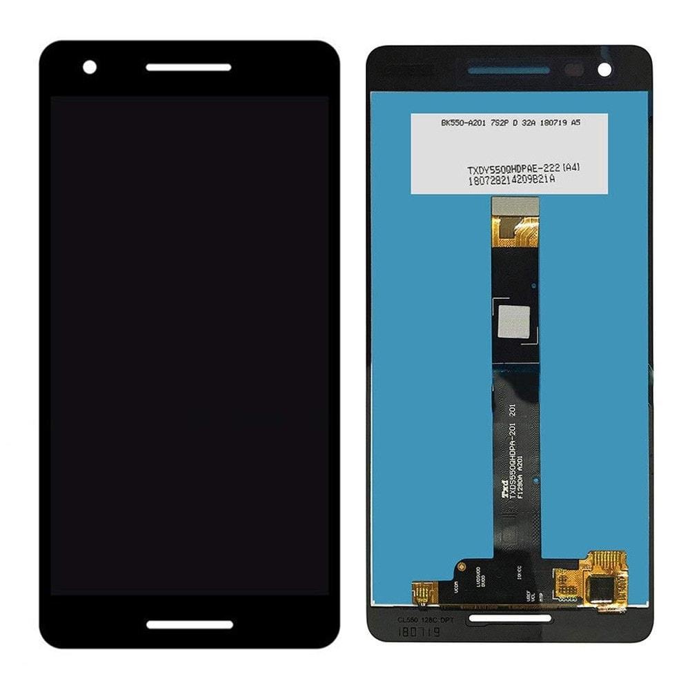 Nokia 2.1 LCD displej dotykové sklo komplet přední panel černý