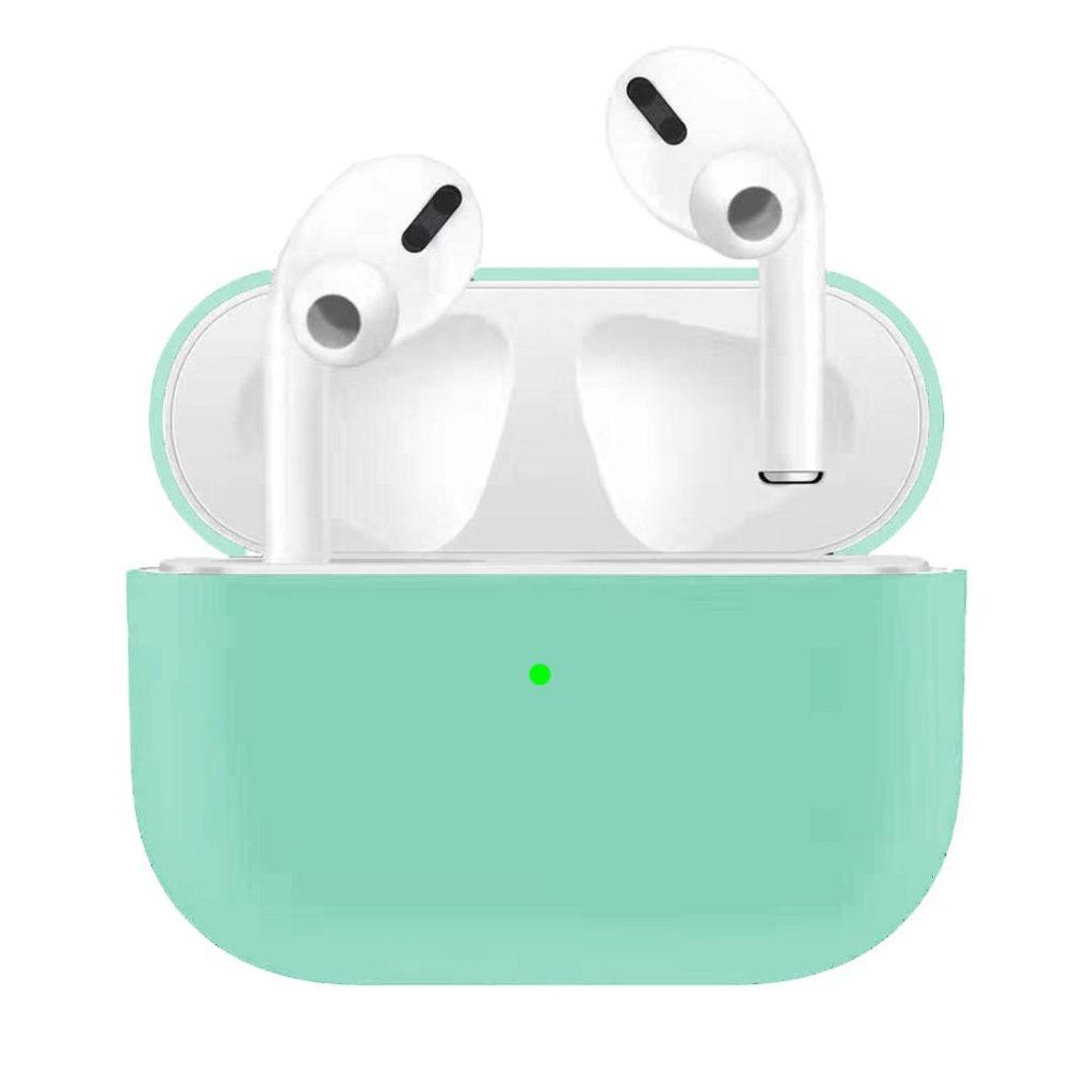 Apple Airpods Pro ochranný kryt silikonový obal na bezdrátová sluchátka světle zelený