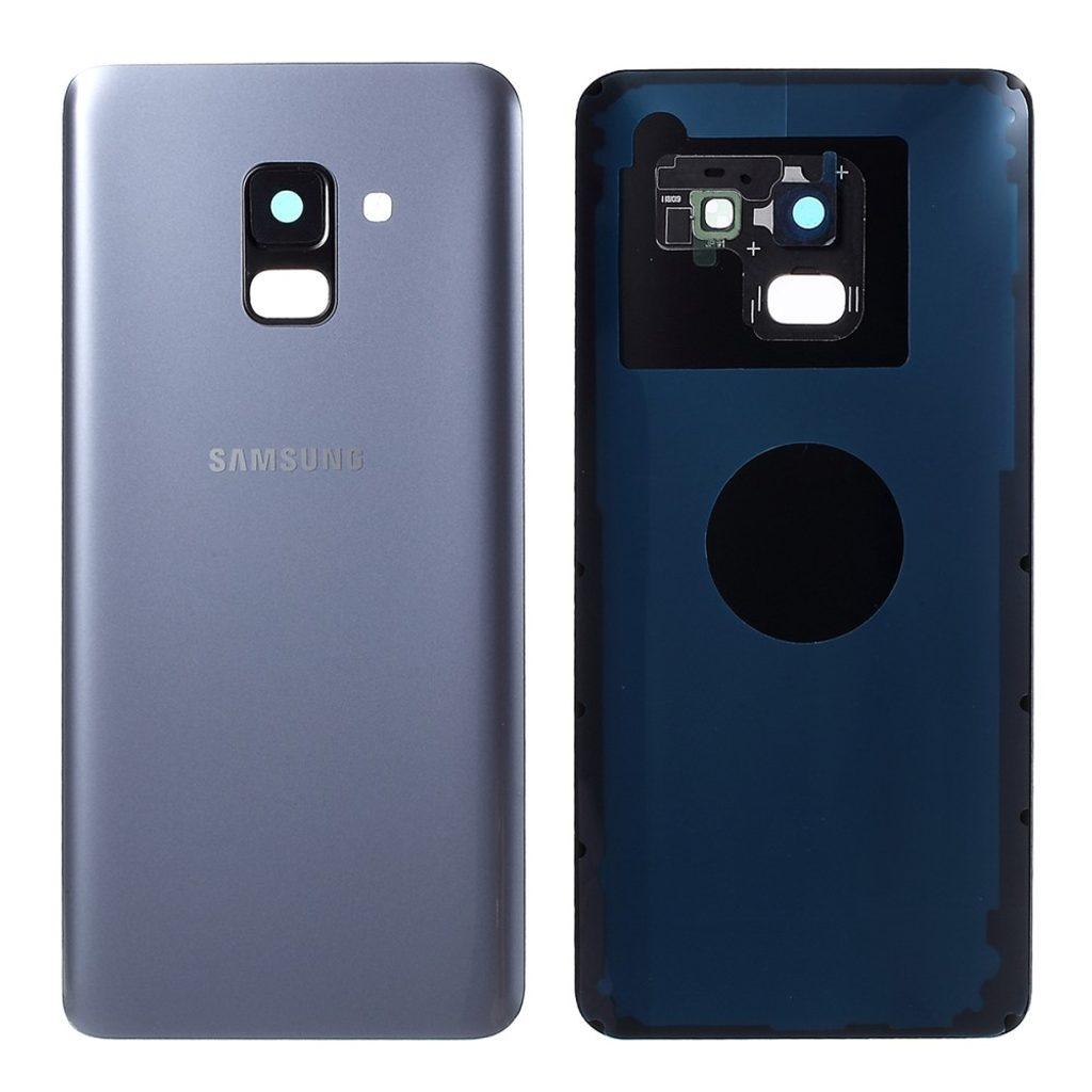 Samsung Galaxy A8 2018 zadní kryt šedý osazený včetně krytky fotoaparátu A530F