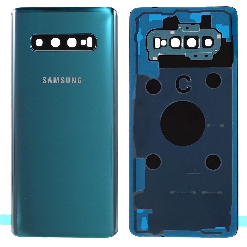 Samsung Galaxy S10 Plus zadní kryt baterie osázený včetně krytky fotoaparátu zelený G975