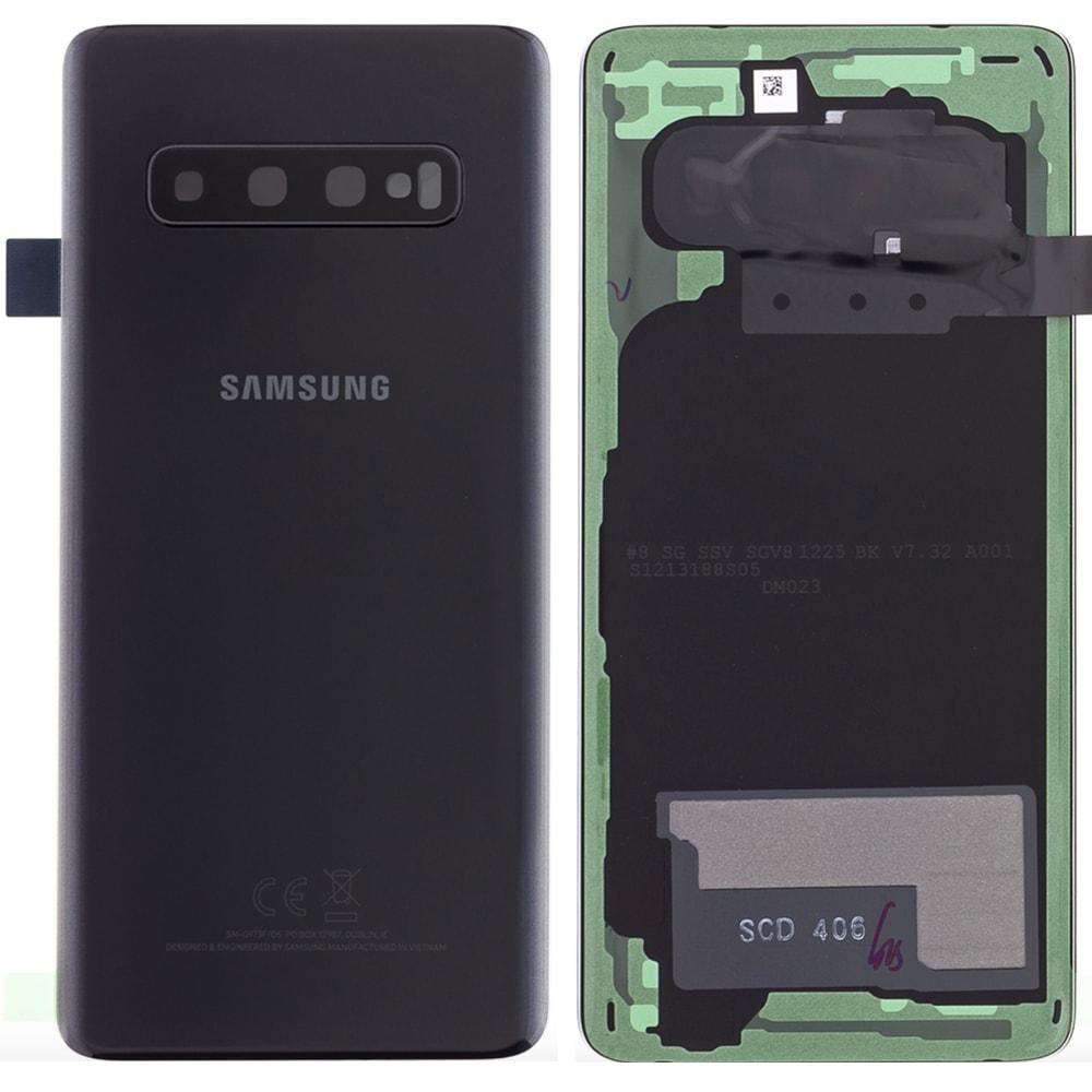 Samsung Galaxy S10 zadní kryt baterie černý G973 (Service Pack)
