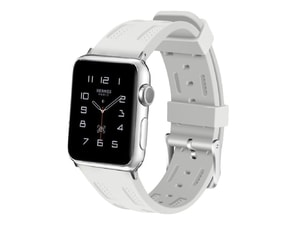 Apple Watch 42mm 44MM silikonový řemínek bílý
