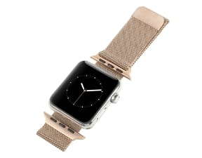 Apple Watch 42mm řemínek kovový Milanese Loop Milánský tah rose gold
