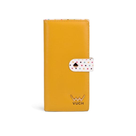 Dámska čierná peňaženka s bodkami zo syntetickej kože