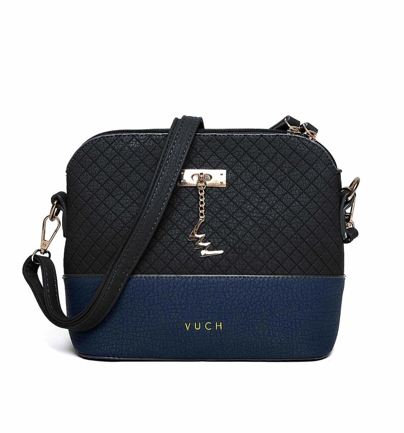 4c65ba057 Farebná dámska kabelka cez rameno čierná - Vuch