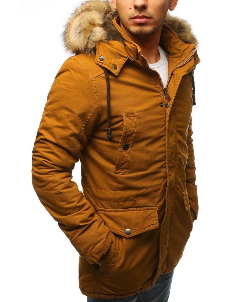 Mustár színű parka kabát Legyferfi.hu