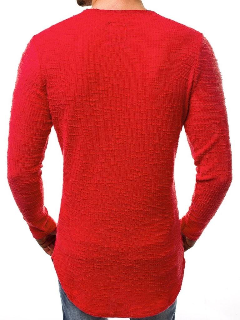 Egyedi piros hosszított pulóver A1230 Legyferfi.hu