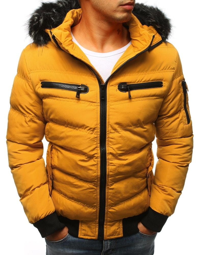 Fantasztikus okker sárga téli dzseki Legyferfi.hu