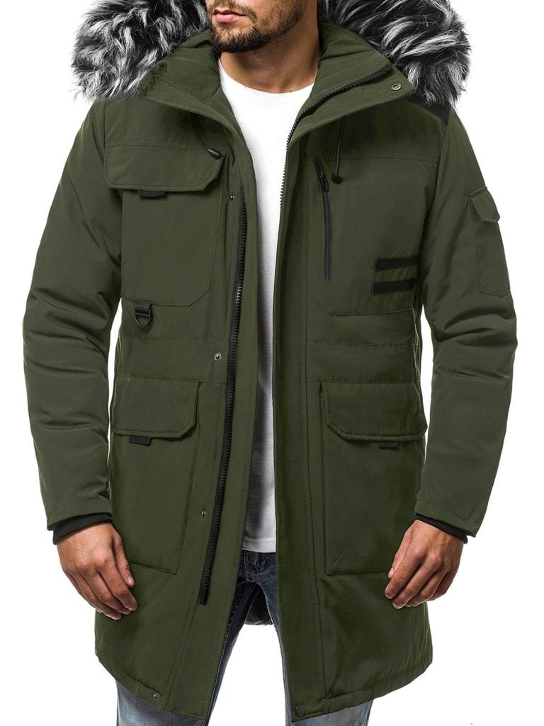 Zöld téli parka kabát Legyferfi.hu