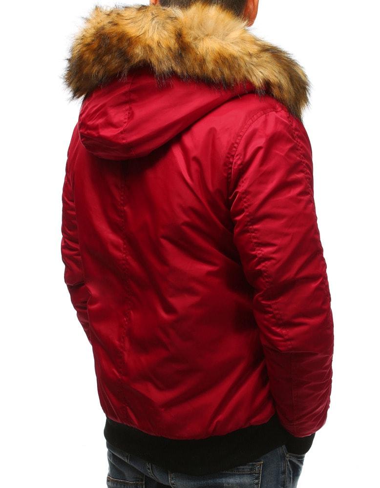 Divatos piros szőrmés dzseki Legyferfi.hu