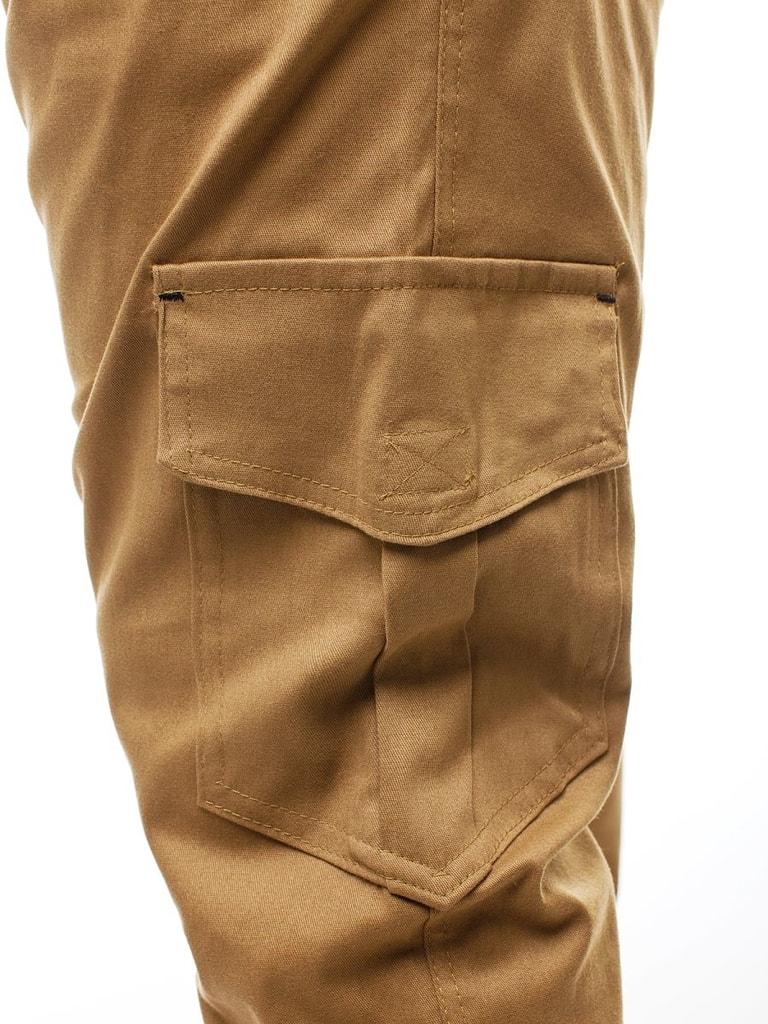 Kényelmes karamell barna cargó nadrág A404 Legyferfi.hu