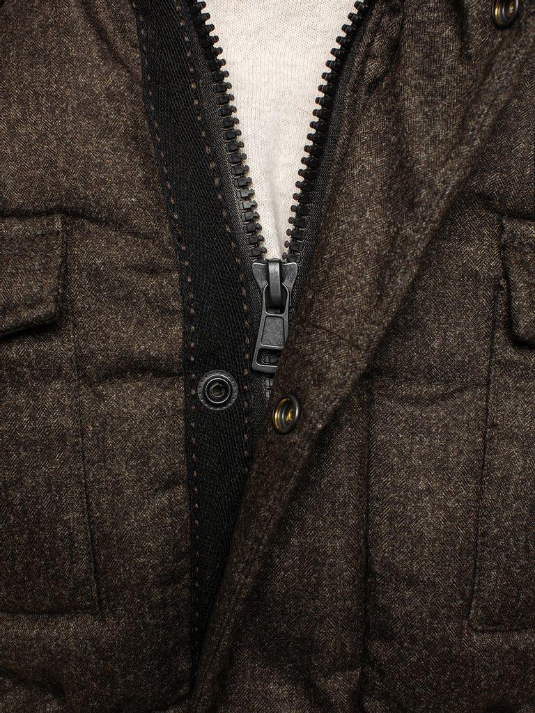 Stílusos téli kabár kávé színben CHROMOSOME 626 Legyferfi.hu