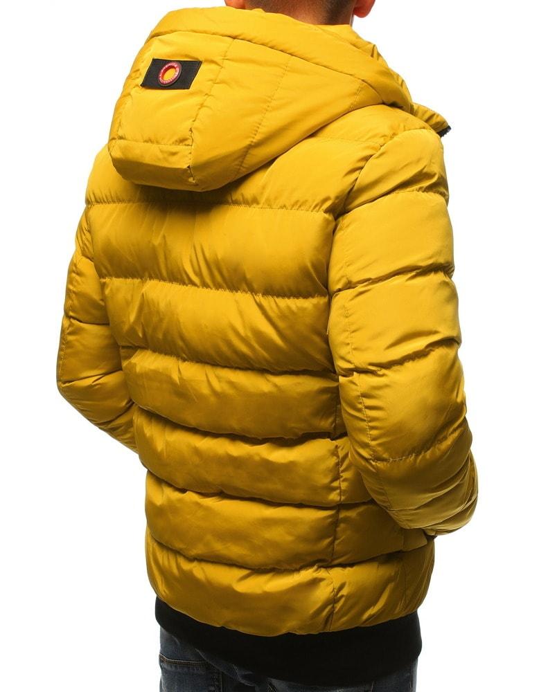 Okker sárga téli dzseki Legyferfi.hu