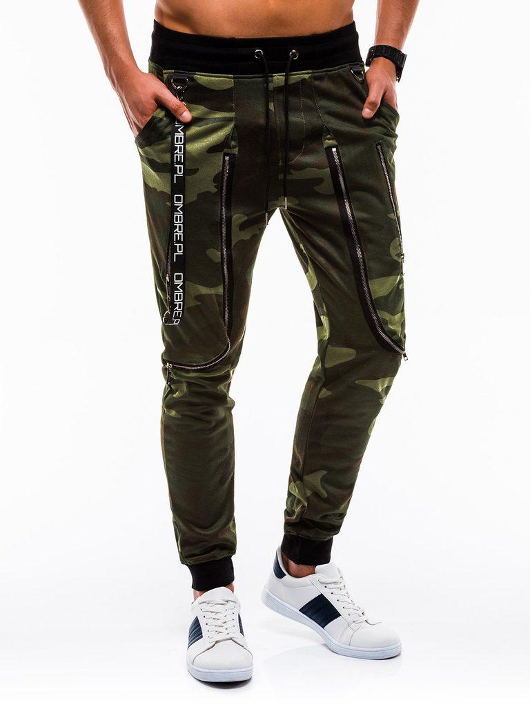 Férfi nadrág P735 zöld terepmintás