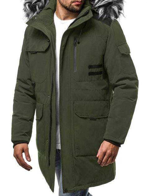 687ea15f83 Modern zöld téli parka kabát OZONEE JS/HS201809 - Legyferfi.hu