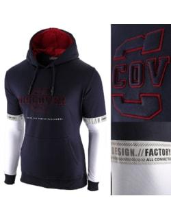 15a9d97e31 -49% Raktáron Sötét kék kapucnis pulóver SRPH - Men's Lifestyle