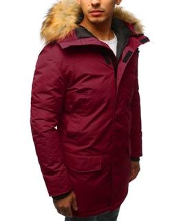 a2e700708f ... Bordó parka kabát szőrmével