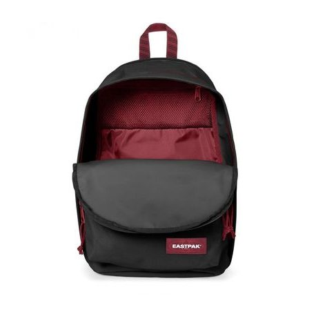 Fekete férfi hátizsák  EASTPAK BACK TO WORK  Blakout Stripe Red