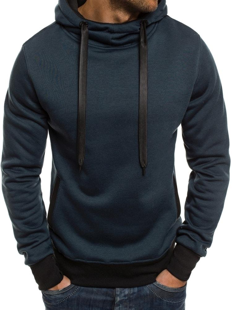 f9090e3b8624 Sötét kék sportos pulóver J.STYLE 2072-10 - Legyferfi.hu