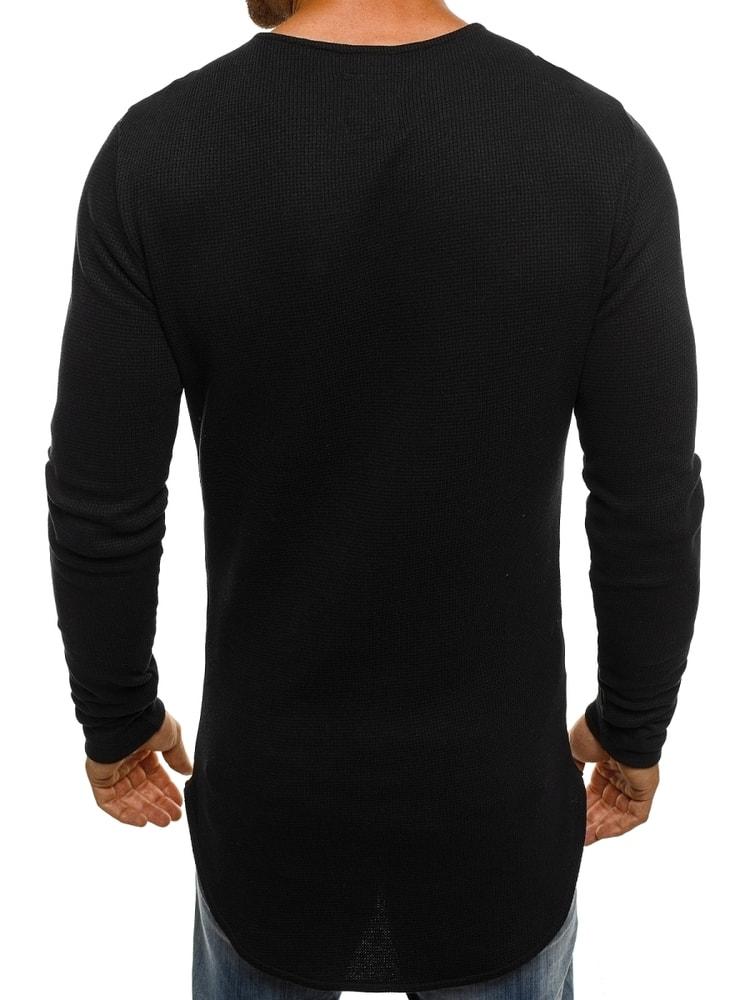 4116d110edc8 Stílusos fekete hosszított póló ATHLETIC 1165 - Legyferfi.hu