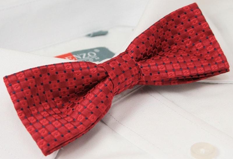 600181f141 Stílusos piros mintás csokornyakkendő - Legyferfi.hu