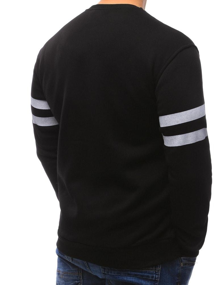 ee305918d5 Fekete férfi pulóver Global 42 - Legyferfi.hu