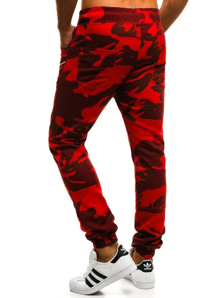 c007be6c0b Piros terepmintás jogger nadrág ATHLETIC 0951 - Legyferfi.hu
