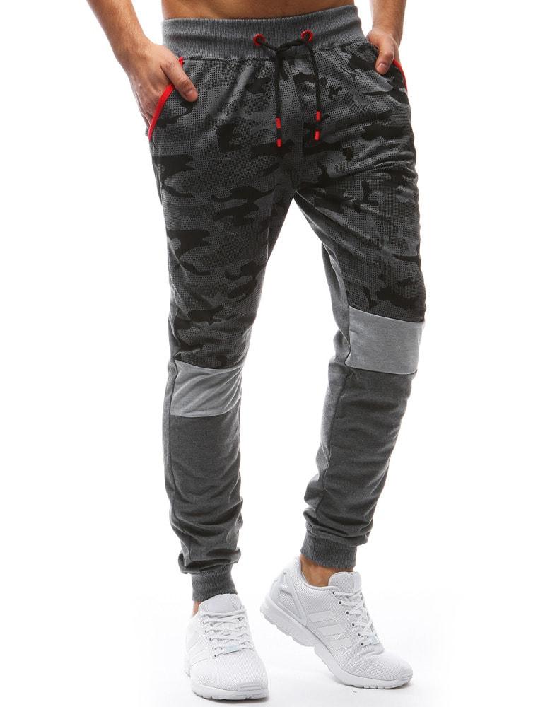 7f98434d1deb Terepmintás melegítő nadrág antracit szürke színben - Legyferfi.hu