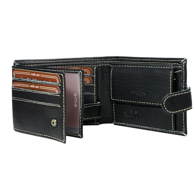 12fb1c26b0 Divatos fekete Buffalo Wild pénztárca - Legyferfi.hu
