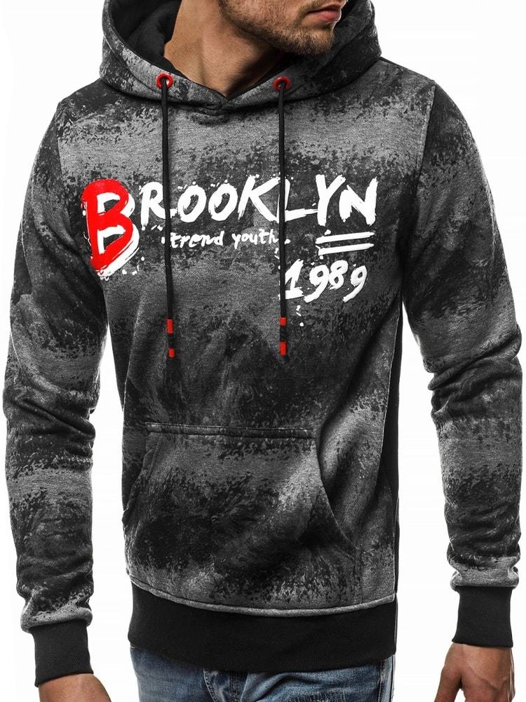 430059f81b Brooklyn grafit szürke kapucnis pulóver JS/DD268 - Legyferfi.hu