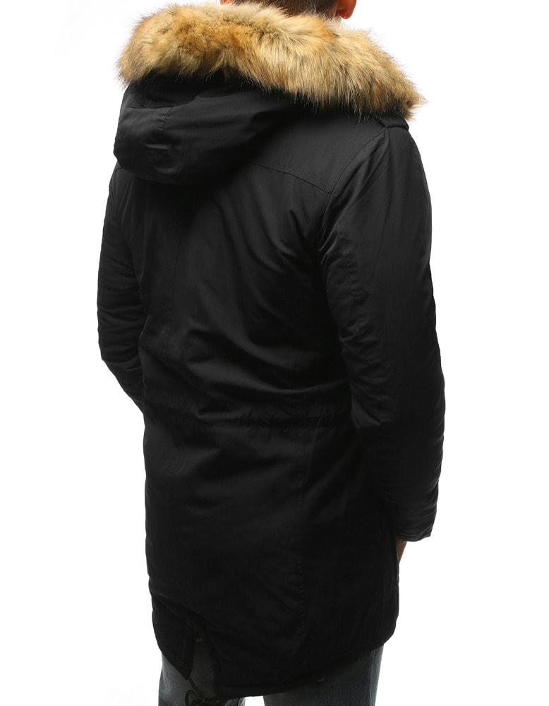 22e7cb8f6e Fekete meleg téli parka kabát - Legyferfi.hu