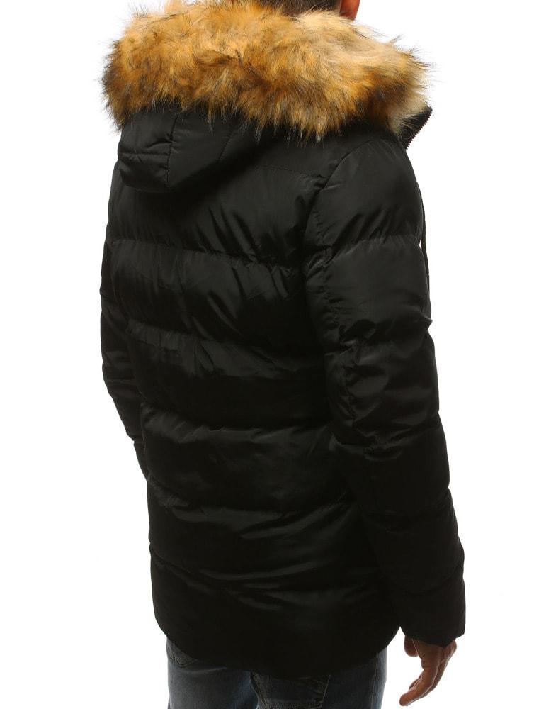 d6c3af54a9 Divatos fekete téli parka kabát - Legyferfi.hu