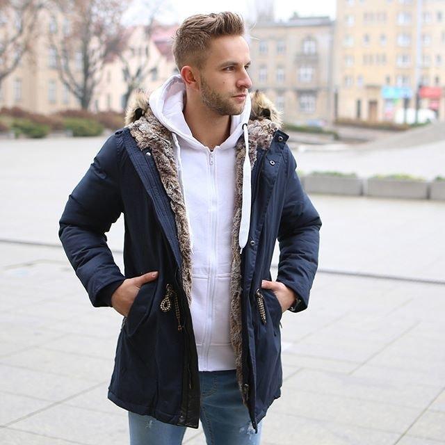 5ac0f5b5f2 Meleg sötét kék parka kabát J.BOYZ 1016K - Legyferfi.hu