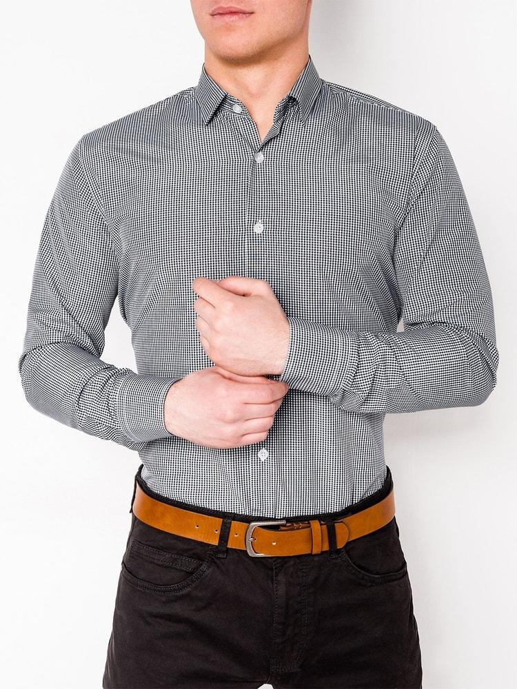 7bb2410310 Elegáns fekete apró mintás ing k435 - Legyferfi.hu