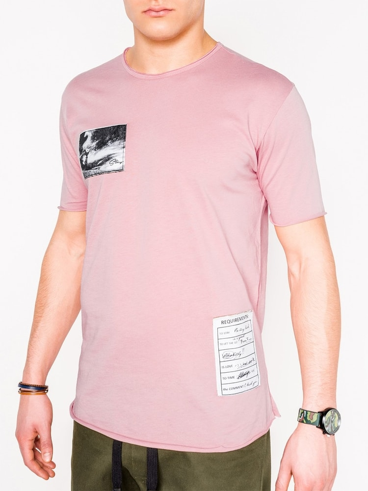 3738aaf46f Rózsaszín póló S983 - Legyferfi.hu