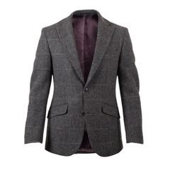 Walker Slater Edward tweed zakó  - Charcoal & Green Windowpane