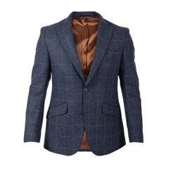 Walker Slater Edward tweed zakó - Navy & Gold Check
