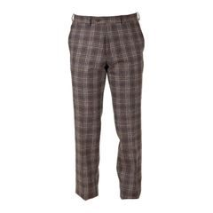 Walker Slater Edward tweed nadrág - Brown & Navy Check
