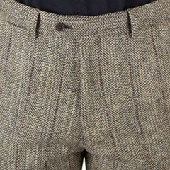 Walker Slater Edward tweed nadrág - Brown Red Multipattern & Stripes